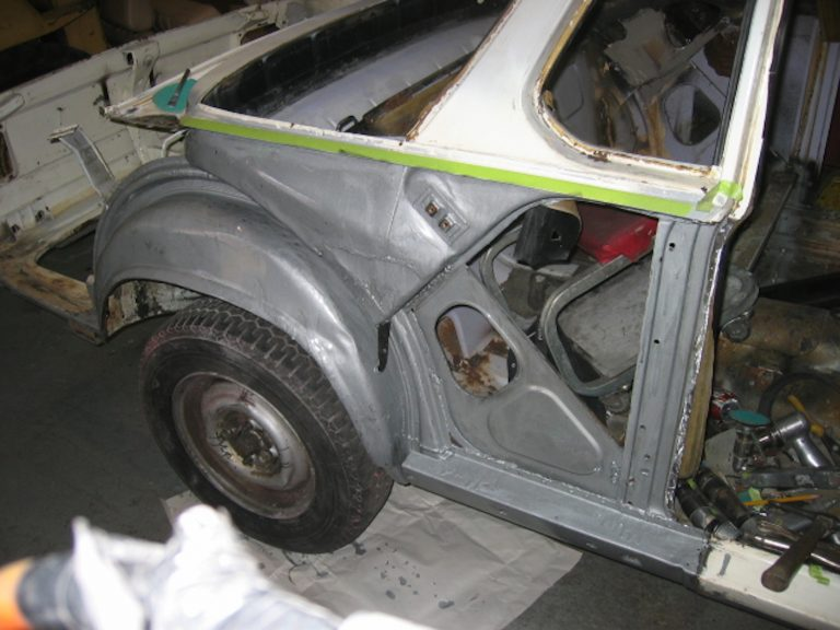 Baur Targa 2002 Rust repair