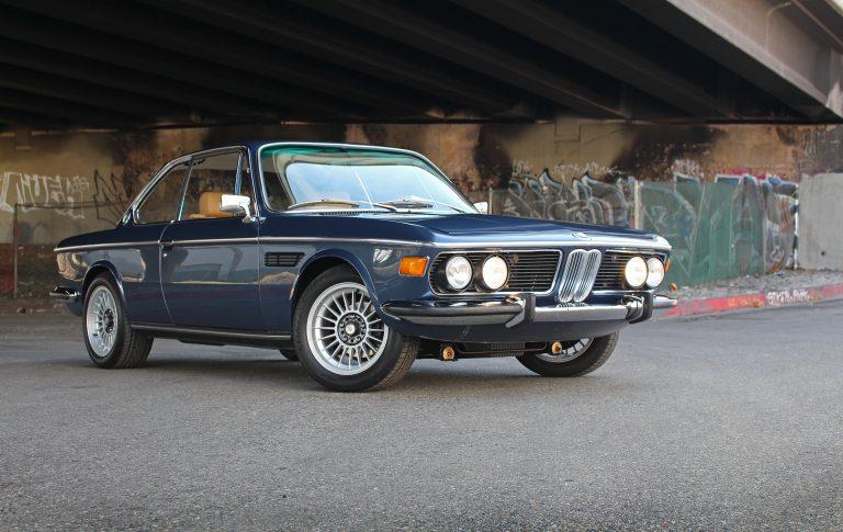 BMW 3.0CS Baikal and Tan